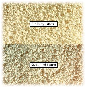 Het verschil in textuur tussen Talalay en normaal latex
